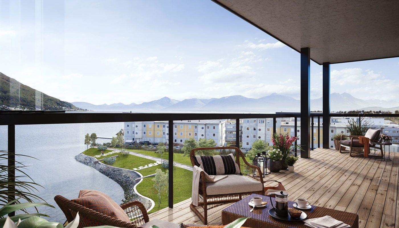 innglassede balkonger